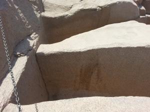 Tip of Unfinshed Obelisk Aswan Egypt