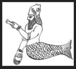 Fish headed god
