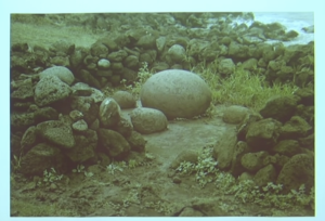 The most sacred object as shown to David Hatchess-Childress was a stone sphere.